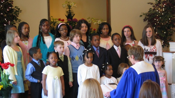Children's choir Easter 2009