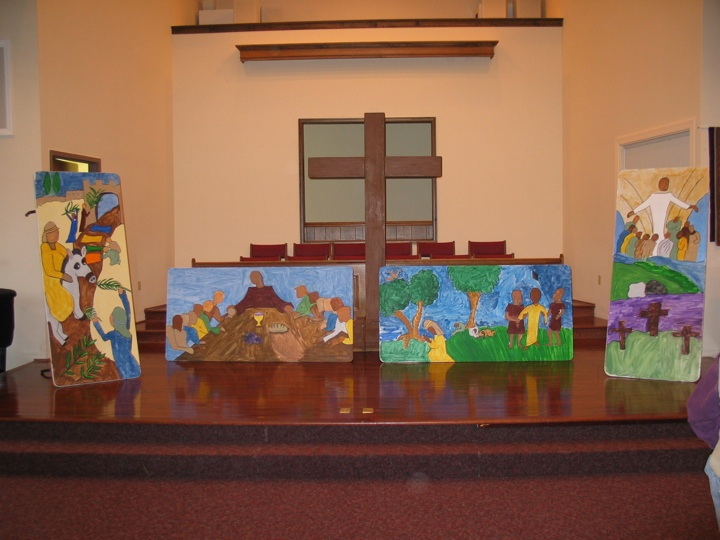 Easter story backdrop