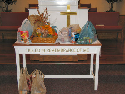 Thanksgiving donations
